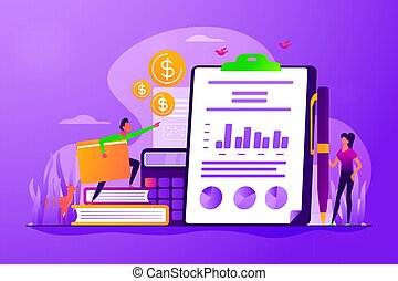 Income statement concept vector illustration