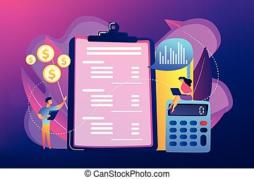Income statement concept vector illustration.