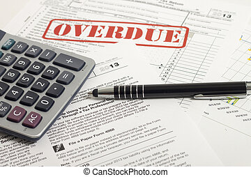 Income Taxes - Close up U.S. taxes papers