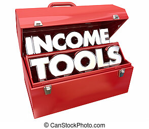 Income Tools Earn More Money Toolbox 3d Illustration