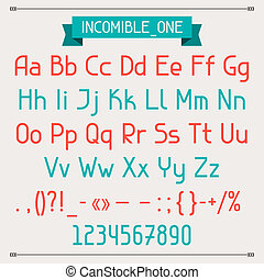 incomible, een, classieke, stijl, font.