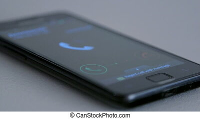 Incoming call request on smart phone