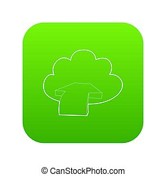 Incoming database icon green