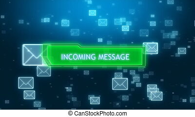 Incoming email with message window - Incoming email with...