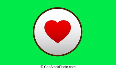 Incoming message icons are the heart of Valentine's day for your website. Chromakey.