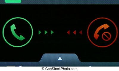 Incoming phone call indication on smartphone display...