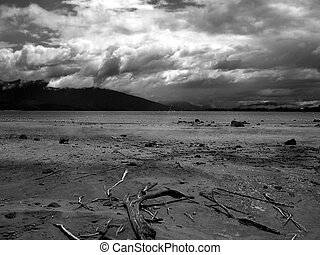 Incoming Storm over Lake Te Anau, New Zealand