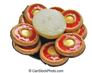 incompatibility - half of onion among the sweet cakes
