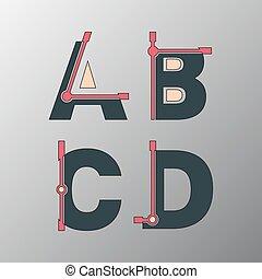 Incomplete glitch font
