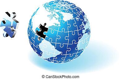 Incomplete Globe Puzzle