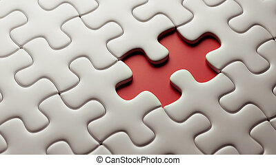 Incomplete Puzzle - High Resolution Puzzle with a missing...