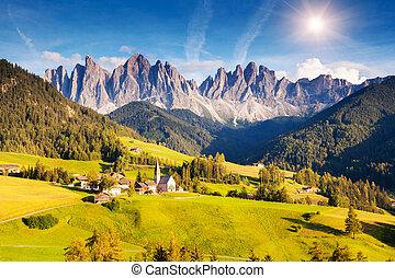 incomum, paisagem montanha