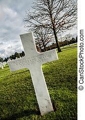 inconnu, croix, soldat