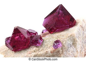 inconnu, minéral, violet