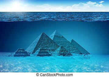 inconnu, mondiale, pyramides