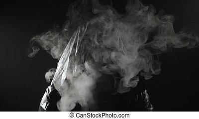 inconnu, vidéo, fumeur, capuchon