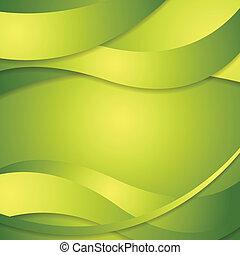 incorporado, abstratos, experiência verde, ondas