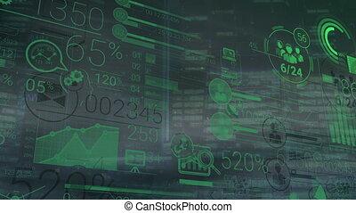 incorporado, infographics, de, figuras, e, dados