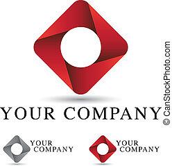 incorporado, logotipo, desenho