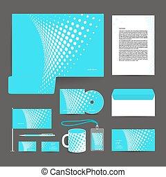 incorporado, stationery., desenho, identidade, modelo