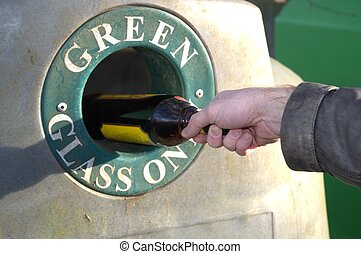 Incorrect glass bottle disposal