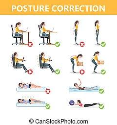 incorrect, infographic., pose, comment, correct, attitude