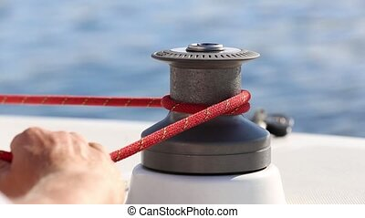 Incorrect use a winch on a yacht