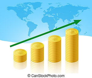 Increase business concept illustration
