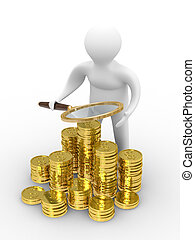 Increase finance on white background. Isolated 3D image