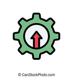 increase  flat color icon