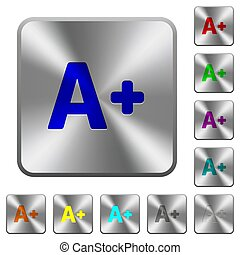 Increase font size rounded square steel buttons
