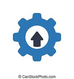 increase  glyph color icon
