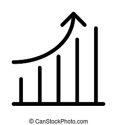 increase glyph flat vector icon