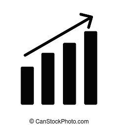 increase glyph icon