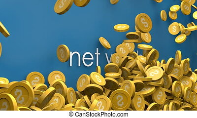 Increase in net worth animation.