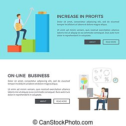 Increase in Profits, Online Vector Illustration