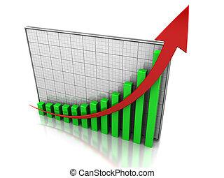 Increase profit - Success concept, graph showing the...