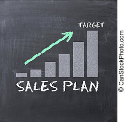 Increase sales concept with business graph