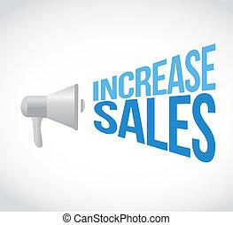 increase sales megaphone loudspeaker message