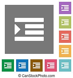 Increase text indentation square flat icons - Increase text ...