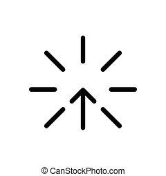 increase thin line icon