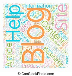 Increase Your Business With A Blog text background wordcloud concept