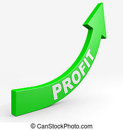 Increase your profit. Computer generated image.
