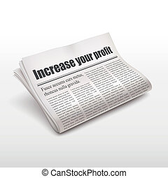 increase your profit words on newspaper