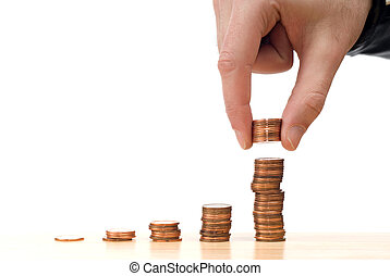Increased Stock - Concept image of the stock market going...