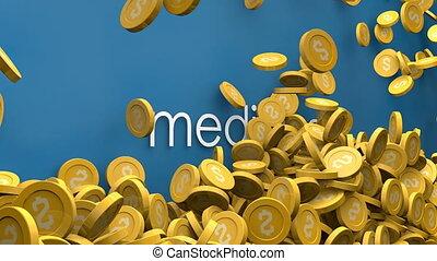Increasing cost of medicine animation.
