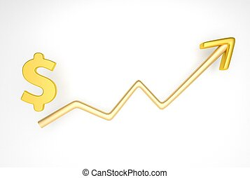 increasing graph with dollar symbol