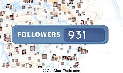 Increasing number of global followers