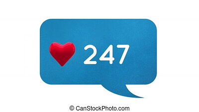 Increasing number of hearts 4k - Digital animation of a ...