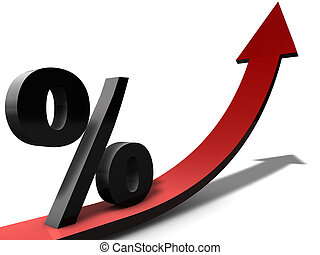 Increasing Percentage can be used for business presentations